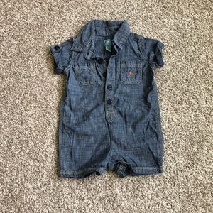 Baby Gap Chambray Romper Size 3-6 Months